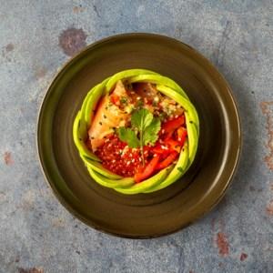 Hap en Tap. Spicy avocadosalade