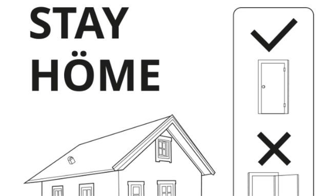 """Ikea speelt in op coronacrisis: """"Stay höme"""""""
