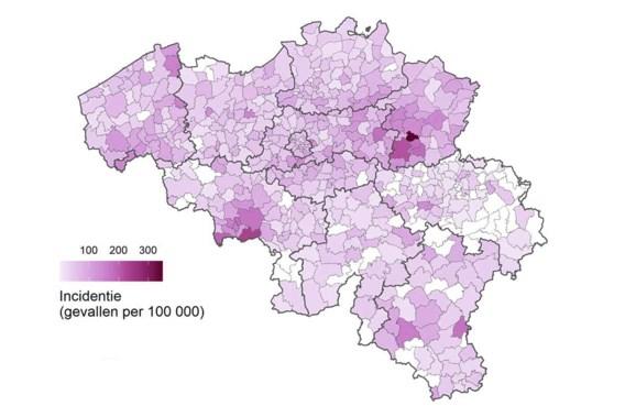 Voor eerst verdeling van besmettingen per gemeente: Limburg zwaarst getroffen