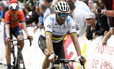 """Valverde biecht vreemde val tijdens trainingsrit op: """"Ik wou 'een Van der Poelleke' doen"""""""