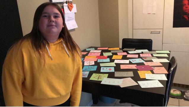 Samen tegen corona: meer dan 100 kaartjes voor bewoners rusthuis
