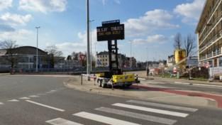Mobiel bord waarschuwt automobilisten