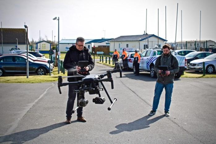 Grootschalige politieactie op camping: drone met warmtecamera's speurt naar tweedeverblijvers in Wenduine