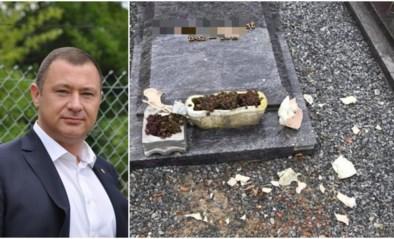 """Vandalen slaan toe op kerkhof: """"Alles wat los zat, hebben ze aan diggelen gesmeten"""""""