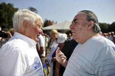 Raphaël Geminiani (rechts) met wijlen Raymond Poulidor (links).