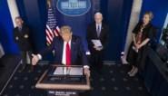 """De bocht van Trump: """"Als we dodentol kunnen beperken tot 100.000 hebben we goed werk geleverd"""""""