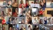 """Warm initiatief: fanfareleden blijven 'doorgaan' vanuit hun eigen kot """"om positieve boodschap te verspreiden"""""""