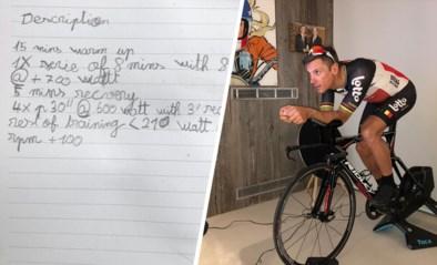 Zoontje van Philippe Gilbert houdt minutieus (indrukwekkende) trainingen van papa bij