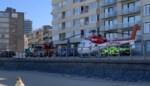 Mug-heli landt op Zeedijk in Mariakerke