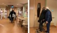 Coronapatiënt mag Nederlands ziekenhuis verlaten en krijgt applaus van zorgpersoneel