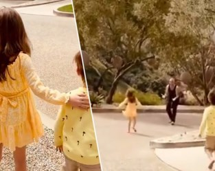 Na drie weken quarantaine: Robbie Williams vliegt kinderen in de armen