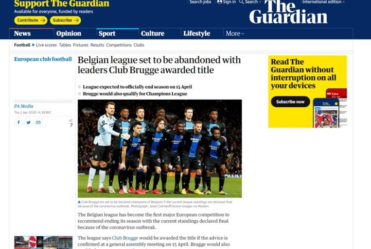 Stopzetting Belgische competitie even wereldnieuws: buitenlandse media rapporteren het nieuws massaal