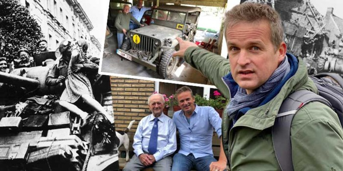 75 jaar na het einde van WOII reist tv-reporter Arnout Hauben de bevrijders van Vlaanderen achterna
