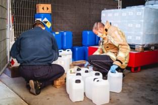 Brandweerzone Centrum verdeelt 6.000 liter handalcohol