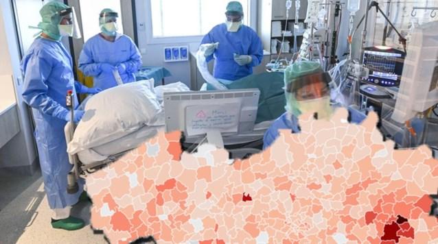 KAART. Bekijk hier hoe zwaar jouw gemeente is getroffen door het coronavirus