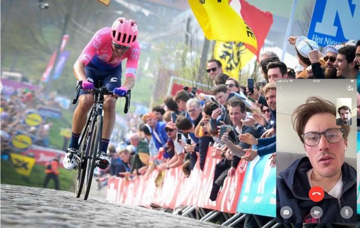 """Alberto Bettiol staat nu al scherp voor virtuele Ronde van Vlaanderen: """"Evenepoel? Dat hij eerst iets groots wint"""""""