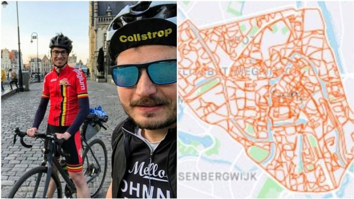 """""""Blijf in je buurt, maar doe eens zot"""": vrienden fietsen 185 kilometer zonder Gent te verlaten"""