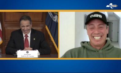 """Nieuwsanker met corona en New Yorkse gouverneur dollen tijdens persconferentie: """"Je bezocht me in een droom, je droeg een tutu"""""""
