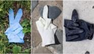 """""""Ruim uw afval op"""": fotocampagne met op straat gedumpte handschoenen"""