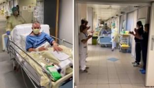 Coronapatiënten verlaten intensieve afdeling van Hasselts ziekenhuis onder luid applaus van zorgverleners