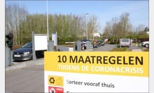 Recyclagepark open: files in de ochtend, situatie normaliseert tegen de middag