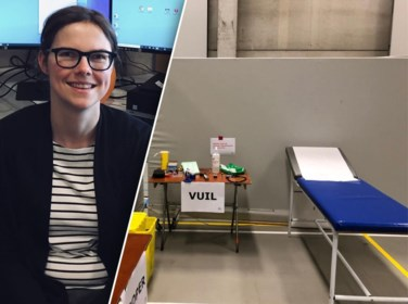 """Iris (35) als vrijwilliger aan de slag in triagepost: """"Ik ben tijdelijk werkloos en wilde mij nuttig maken"""""""