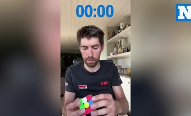 Thomas De Gendt kan niet alleen koersen, wat hij met een Rubiks kubus doet is ook behoorlijk straf