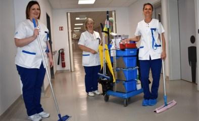 """Mieke, Lies en Lindsay poetsen in Tielts ziekenhuis: """"Wij leven erg mee met patiënten"""""""