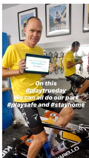Corona of niet, Chris Froome rijdt al opnieuw in het geel