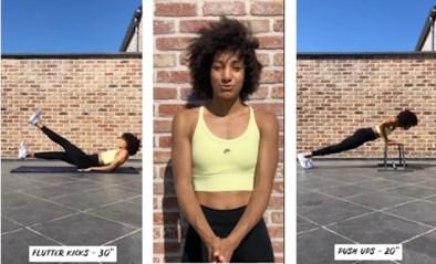 Inspiratie nodig om fit te blijven? Nafi Thiam toont hoe het kan vanuit haar kot