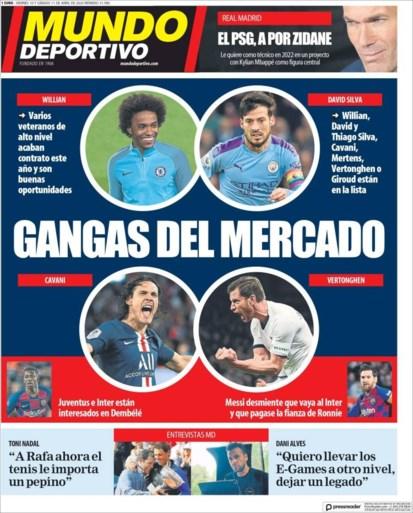 """""""Koopje"""" Jan Vertonghen siert voorpagina's van prominente Spaanse sportkranten"""