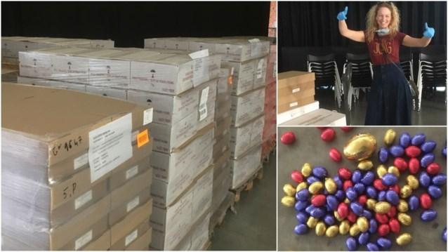 Dakloze wil UZ Gent bedanken en zamelt liefst 18.000 kilogram paaseitjes in
