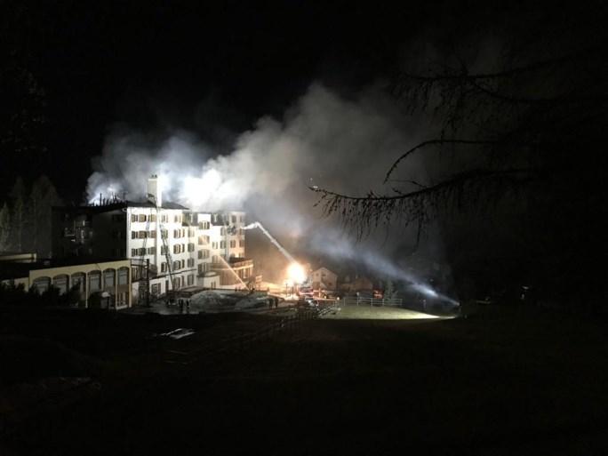 Zware brand in Intersoc-hotel in Zinal: normaal zit het daar vol met Vlamingen, maar nu stond het gelukkig leeg