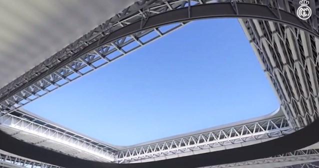 Real Madrid toont hoe het vernieuwde Santiago Bernabeu met uitschuifbaar dak er zal uitzien