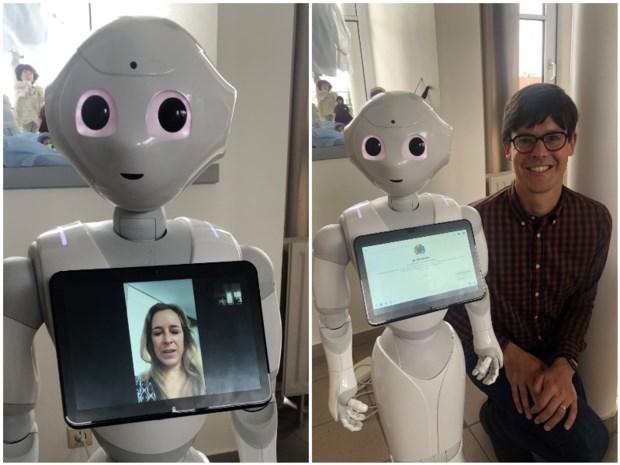 """Robot Pepper is nieuwe bewoner in woon-zorgcentrum: """"Hij helpt onze mensen om contact te leggen met hun familie"""""""
