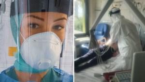 """Jonge verpleegster getuigt in tranen en toont pakkende foto's: """"Stel hiervoor je barbecue uit"""""""