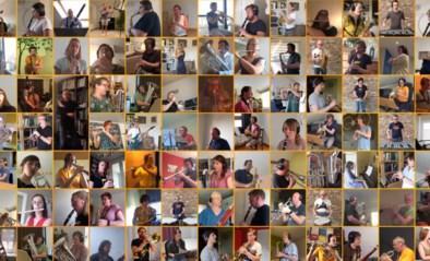 91 muzikanten spelen samen vanuit hun kot stukje muziek