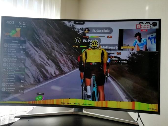 Rohan Dennis wint virtuele bergrit in Zwitserland, Remco Evenepoel zevende