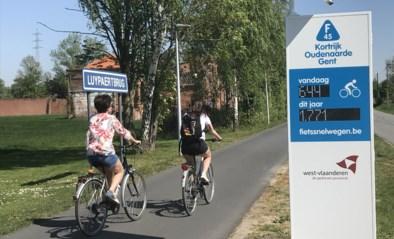 Eerste fietstelzuil op Guldenspoorpad, tweede in Kortrijk
