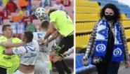 Harde tackles, stevige luchtduels en innige knuffels: Wit-Rusland voetbalt gewoon rustig door