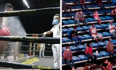"""Ophef door trainende Floyd Mayweather en hallucinante beelden van bokstoernooi in coronatijden: """"Zij moeten ook eten hé!"""""""