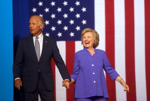 Hillary Clinton schaart zich achter Joe Biden als Amerikaans presidentskandidaat