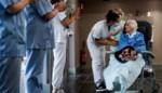 Erehaag en applaus voor honderdjarige vrouw die ziekenhuis mag verlaten na coronabesmetting