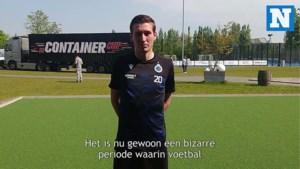 Moet de vrouw van Hans Vanaken nu in doel staan om penalty's te oefenen?