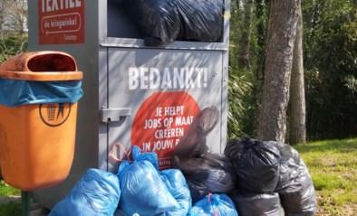 Zet geen afval naast textielcontainers
