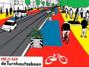 Burgerinitiatief wil meer plaats voor fietsers en voetgangers op Turnhoutsebaan tijdens coronacrisis