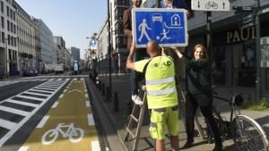 Nieuwe verkeersborden vormen Brusselse vijfhoek officieel om tot één groot woonerf