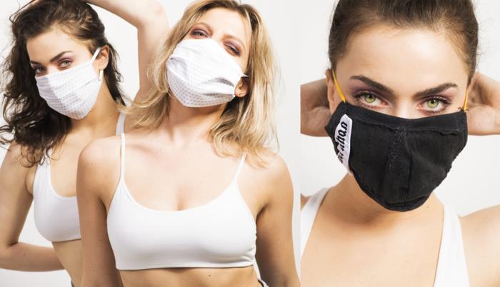 Virusvriendjes Ella en Olga Leyers showen de mondmaskers van 6 Belgische ontwerpers