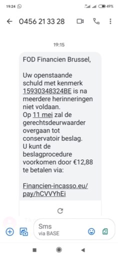 Nieuwe phishing-sms: FOD Financiën dreigt met deurwaarder als u niet betaalt