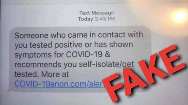 """Politie waarschuwt voor valse sms'en van contact tracers: """"Nergens op klikken"""""""